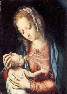 Morales, Luis de (1520c.-1586) - 1565-70 The Virgin and Child (National Gallery, London, UK)