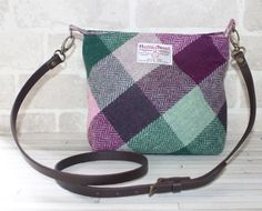 Harris Tweed bag crossbody bag Tweed purse by Enchantingcrea