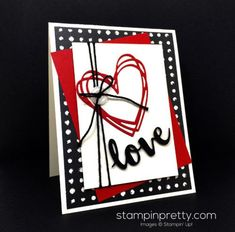 Stampin Up Sunshine Wishes Thinlits Dies Love Card - Mary Fish StampinUp