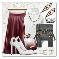 """Yoins17"" by stranjakivana ❤ liked on Polyvore featuring Cuero, Nina Ricci, yoins and yoinscollection"