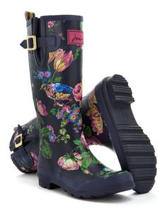 7baf9c60e74 Joules Womens Printed Rain Boot