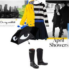 """""""Raindrops keep falling on my head..."""" by stream ❤ liked on Polyvore"""