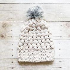 Crochet Braided Beanie Hat Handmade Pompom Slouch Regular Messy Bun Beanie Infant Toddler Child Adult Winter Accessory Snow Ski Cap Hat