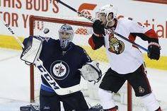 AP                  Published 10:40 p.m. ET April 1, 2017 | Updated 13 hours ago        Winnipeg Jets goalie Connor Hellebuyck (37) gets to a high puck before Ottawa Senators' Bobby Ryan (9) can knock it down during third-period NHL hockey game action in Winnipeg, Manitoba,...  http://usa.swengen.com/perreault-lifts-jets-to-fourth-straight-win-4-2-over-sens/