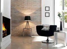 Steinwand Ausführungen Im Wohnbereich Mit Backstein In Beige