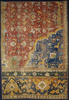 aleyma:    Carpet fragment, made in Iran in the 16th century (source).