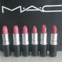 Meine kleine Sammlung :)  Creme cup, angel, please me, brave, modesty und velvet teddy #mac