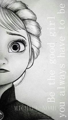 Elsa sketch and edit/-neat Disney Drawings Sketches, Frozen Drawings, Disney Princess Drawings, Pencil Art Drawings, Cartoon Drawings, Drawing Sketches, Cool Drawings, Elsa Drawing, Cute Disney