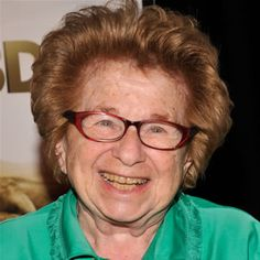 Dr. Ruth Westheimer is one of the world's most recognized authorities on sex. She has delivered her advice on TV, radio and the web for decades and has written numerous books.
