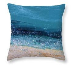 Splash 6B Pillow by  Coastal Living Art Acrylic ~  #beachpillow#coastaldecor#interiordesign#ocean#nauticalpillow