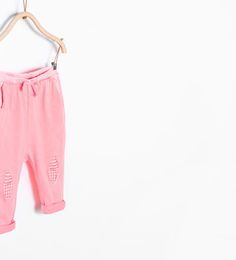 Knee patch trousers-Leggings & Trousers-Baby girl (3 months-3 years)-KIDS | ZARA Germany