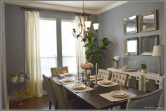Secondary if Aleutian doesn't work Dining room: Storm cloud blue Sherwin Williams: Dining Room Blue, Kitchen Dinning Room, New Kitchen, Kitchen Ideas, Sherwin Williams Storm Cloud, Cloud Bedroom, Master Bedroom, Dark Wood Kitchens, Dark Furniture