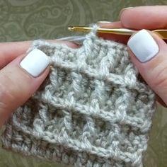 How to knit waffle stitch video tutorial - historychane. - How to knit waffle stitch video tutorial – historychanel - Ribbed Crochet, Double Crochet, Crochet Hats, Knitting Stitches, Knitting Patterns, Crochet Patterns, Knitting Needles, Crochet World, Crochet Waffle Stitch