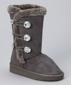 Ordered these for Ash!!  Look what I found on #zulily! Gray Three-Button Boot by Chatz by Chatties #zulilyfinds