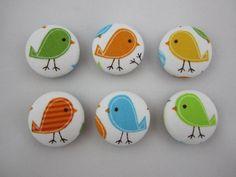 Little Bird Magnets  Ann Kelle's Zoologie  Set by adrisadorables