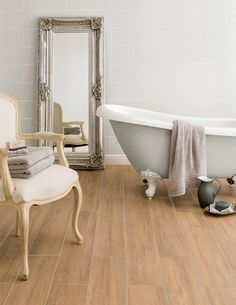 Said to be over a thousand years old, the Bowthorpe Oak is the oldest tree in England; this practical porcelain tile mimics the natural grain and texture of real oak. The streamlined plank format and characteristic light oak hues give this tile the versatility to work well in both traditional and modern décors.