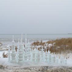 "Kit Paulson, Tiny City on the Plains, lampworked glass, temporary installation, 2.5"" x 5"", 2014 kitpaulsonglass.com Folk, Give It To Me, Faith, Glass, Popular, Drinkware, Corning Glass, Forks, Folk Music"