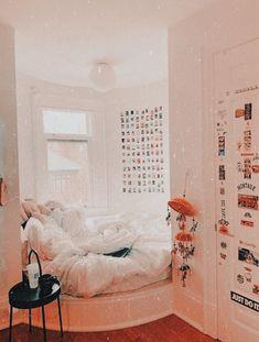 Bedroom Decor For Teen Girls, Cute Bedroom Ideas, Cute Room Decor, Girl Bedroom Designs, Teen Room Decor, Room Ideas Bedroom, Small Room Bedroom, Small Rooms, Wall Decor