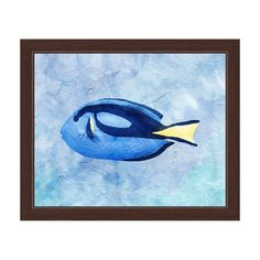 Horizon 'Blue Tang Painted' Framed Graphic Wall Art