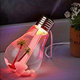 Efaster Chic Lamp Humidifier Home Aroma LED Humidifier Air Diffuser Purifier Atomizer (Gold)