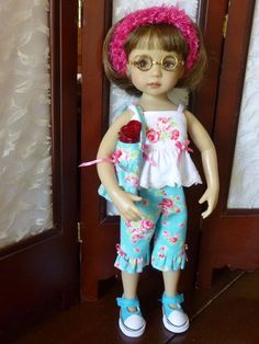 "Capri's Outfit for Dianne Effner 13"" Little Darling Dolls by RRS #DiannaEffner"