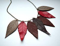 Handmade leather pendant. Elf Necklace Nature от jewelryleather