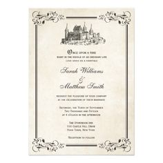 once upon a time wedding invitation | Fairytale Castle Wedding Invitations from Zazzle.com