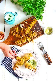 Ziemniaczane spiralki na patyczkach, letni hit Fall Dishes, Waffles, Grilling, Curry, Cooking, Breakfast, Food, Impreza, Autumn