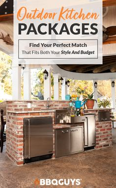 Find a style that matches your budget! Outdoor Kitchen Plans, Backyard Kitchen, Summer Kitchen, Outdoor Kitchen Design, Outdoor Kitchens, Backyard Patio Designs, Patio Ideas, Backyard Ideas, Porches