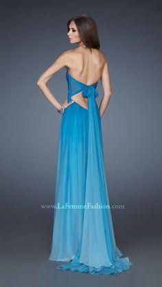 { 18415   La Femme Fashion 2013 } La Femme Prom Dresses - Tie Back - Strapless Gown - Light Ombre