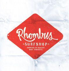 Rhombus Surf Shop logo by Timba Smits