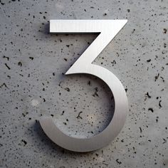 Modern House Numbers  Aluminum Modern Font Number by moderndwell