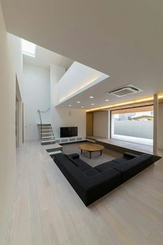 BROWN LIVING ROOM IDEAS – Let's make this year as the year of simplicity. We can start realizing the goal by working on brown living room ideas. Brown has earned a reputation as . Read Gorgeous Brown Living Room Ideas 2020 (For Your Inspiration) Modern House Design, Modern Interior Design, Interior Architecture, Interior Ideas, Luxury Interior, Living Room Ideas 2019, Living Room Designs, Sunken Living Room, Living Area