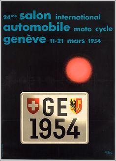 Salon Automobile #Genéve original #vintage #poster manifesto  www.posterimage.it