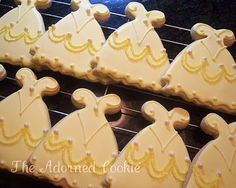 Beauty and the Beast! Cookies inspired by Belle's dress :)