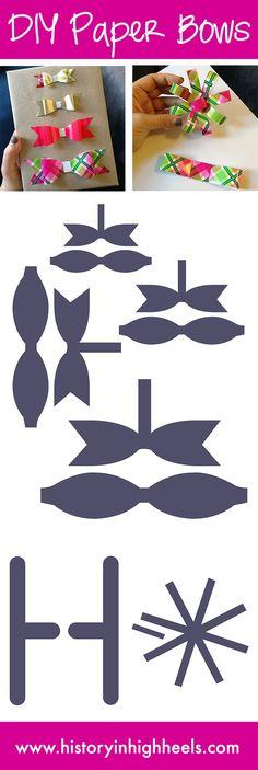 Billiges Vatertagsgeschenk comment faire un noeud en papier Paper Cards, Diy Paper, Paper Crafting, Paper Bows, Cards Diy, Diy Hair Bows, Diy Bow, Papier Diy, Bow Template