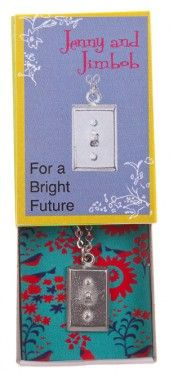 For a Bright Future - Light switch necklace