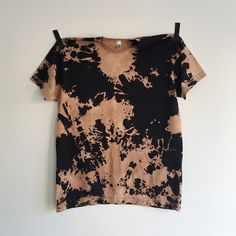 Black and Brown Lava Tee by KarinaManarin on Etsy
