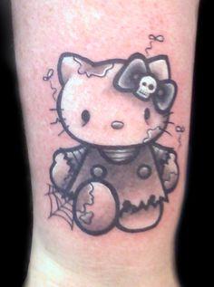 Tattoo Hello Kitty Zombie Black and Gray Tattoo Hello Kitty Zombie ...