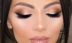 Check natural Prom makeup for brown eyes simple winged liner rose gold Prom makeup simple glit. Simple Party Makeup, Simple Wedding Makeup, Wedding Guest Makeup, Party Makeup Looks, Indian Wedding Makeup, Natural Wedding Makeup, Wedding Hair And Makeup, Indian Skin Makeup, Fair Skin Makeup