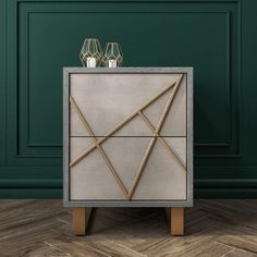 Buy Anastasia 2 Drawer Bedside Table in Taupe with Gold Painted Wooden Trim from - the UK's leading online furniture and bed store Furniture 123, Upcycled Furniture, Table Furniture, Online Furniture, Furniture Ideas, Bedside Drawers, Bedside Tables, Dark Wood Bed, Living Room