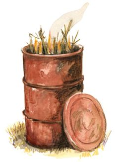 Make Biochar — This Ancient Technique Will Improve Your Soil.  You can make biochar in a burn barrel. Just watch the smoke. When it thins, pop the lid onto the barrel to slow combustion.