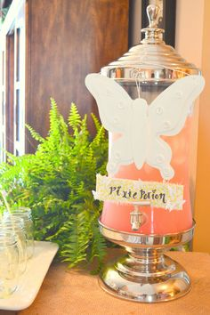 butterfly birthday party - Google Search Birthday Party Drinks, 4th Birthday Parties, Butterfly Birthday Party, Girl Birthday, Birthday Stuff, I Party, Birthday Ideas, Pixie, First Birthdays