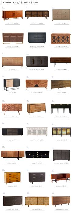 108 of our Favorite Credenzas (at every price point) - Emily Henderson Home Decor Furniture, Industrial Furniture, Furniture Design, Plywood Furniture, Chair Design, Modern Furniture, Credenza Decor, Tv Credenza, Modern Credenza