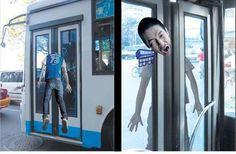 Publicidad Creativa imprime con Gerprint , muy creativa para un bus vea www.gerprint.com