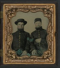 [Two unidentified soldiers in Union sergeants' uniforms] (LOC) by The Library of Congress, via Flickr