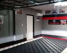 50 Garage Paint Ideas For Men - Masculine Wall Colors And Themes - - Life a fresh coat on a classic car, bring your space back to life with the top 50 best garage paint ideas for men. Discover manly wall colors and designs. Painted Garage Walls, Garage Paint Colors, Garage Floor Paint, Wall Colors, Painted Garage Interior, Garage Flooring, Car Garage, Garage Doors, Dream Garage