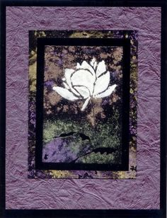 Lotus in Relief (Heather Taylor)  Unmounted Rubber Stamp