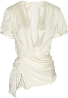 Giorgio Armani Wrapeffect Silk Blouse