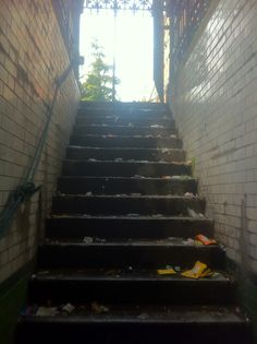 Steps down to D at 27 Foley Street Stairs, The Originals, Street, Home Decor, Ladders, Homemade Home Decor, Stairway, Roads, Staircases